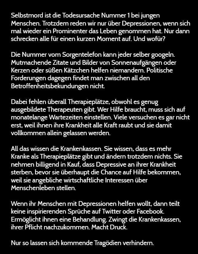 #Depression #Krankenkassen #Suizid
